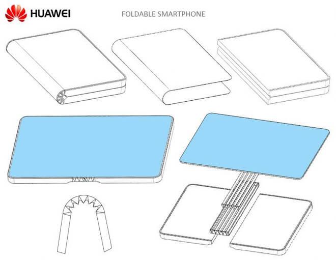 patente móvil plegable de Huawei