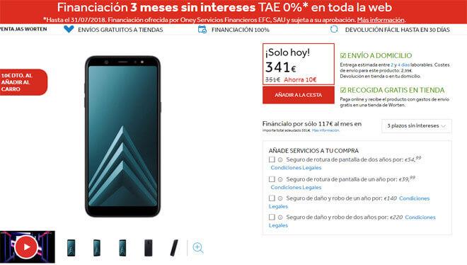 Comprar el Galaxy A6+ en Worten