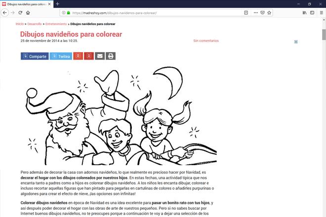 En madreshoy.com conseguirás dibujos de navidad para colorear