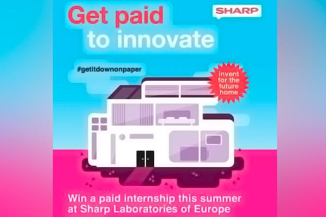 ¡Os interesa! Prácticas remuneradas en Sharp con #GetItDownOnPaper