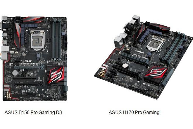 H170 Pro Gaming y B150 Pro Gaming D3, las nuevas placas base ATX de ASUS