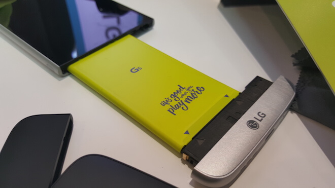 Batería extraible modulo diseño modular del LG G5