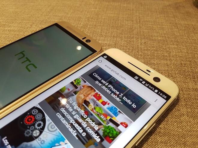 HTC 10 Vs HTC One M9 comparacion pantalla