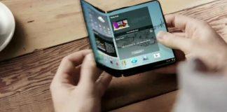 móvil con pantalla flexible de Samsung