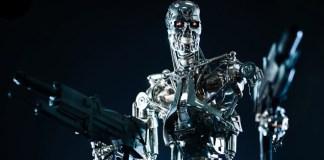 botón rojo para apagar robots