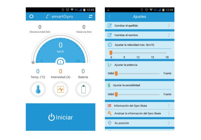 Aplicación móvil de SmartGyro