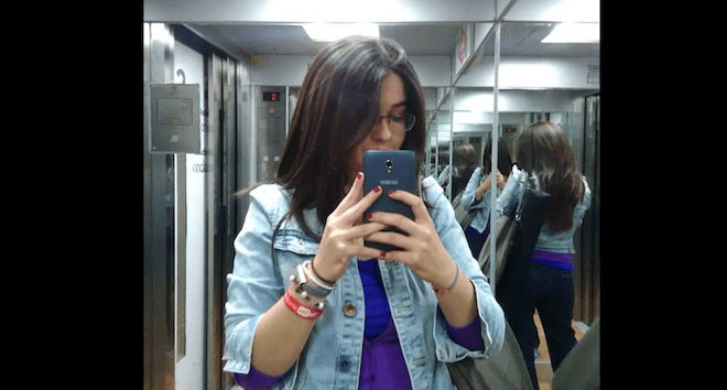 Foto tomada con la cámara principal del Alcatel Pop 4 plus en un ascensor