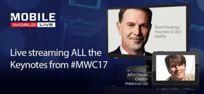 Conferencias del MWC 2017 se verán vía streaming