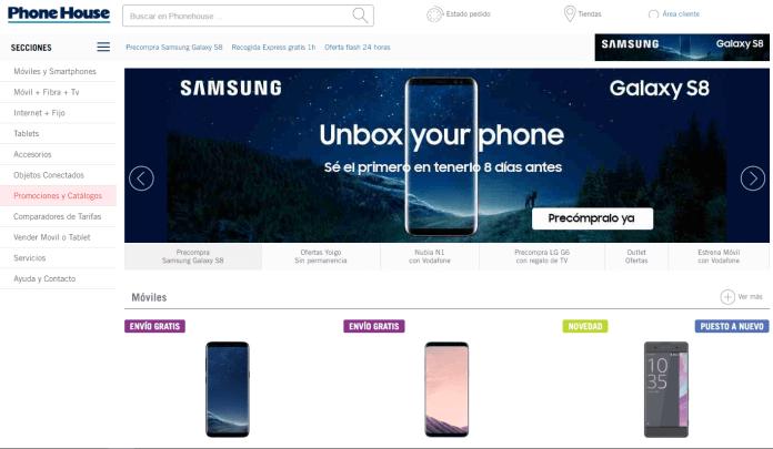 Ofertas del Samsung Galaxy S8 en Phone House