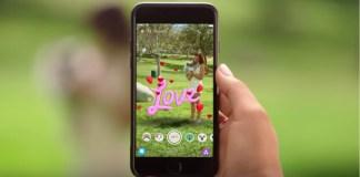 Snapchat filtro 3D