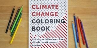 Libro para colorear revela datos del cambio climático