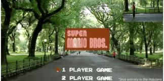 graban cómo se juega Super Mario Bros con realidad aumentada