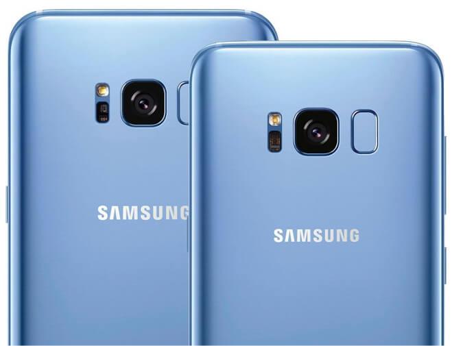 Galaxy S8 azul coral