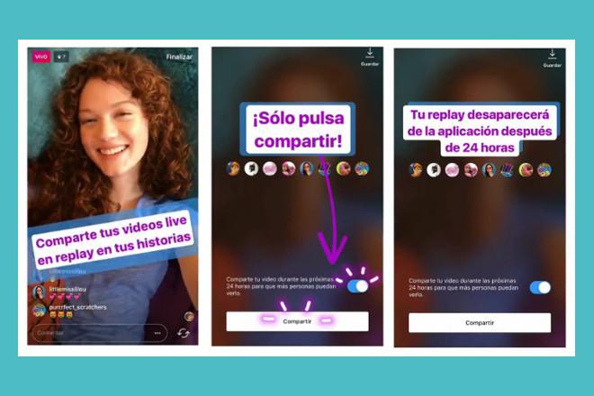 Instagram permitirá que tus transmisiones públicas se vuelvan a ver