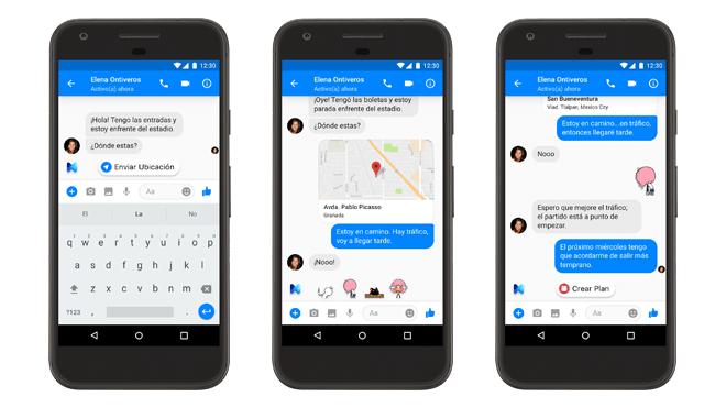 M, el asistente virtual de Facebook Messenger, disponible en España