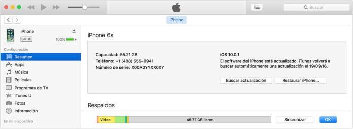 Desbloquear un iPhone con iTunes
