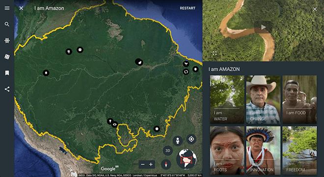Viajar a la Selva Amazónica sin salir de casa es posible con Google Earth