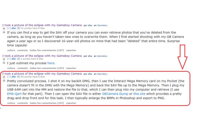 Así explicó zhx cómo tomó una fotografía con un GameBoy (1)