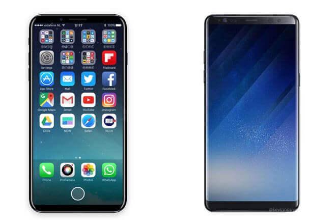 Samsung Galaxy Note8 Vs iPhone 8: el mejor móvil 2017 será…
