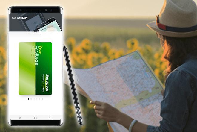 Samsung Pay incorpora el programa de fidelización de Europcar España
