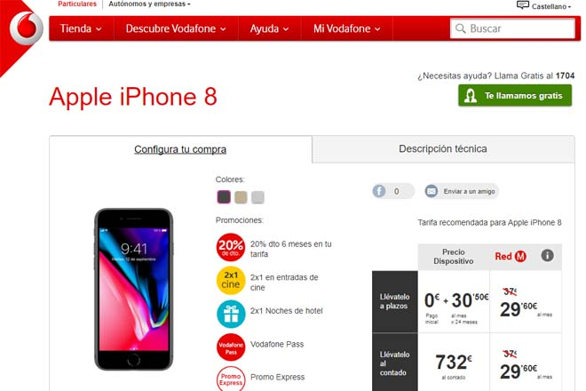 iPhone 8 Vodafone