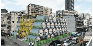 Presentan casas hechas con tuberías de cemento en Hong Kong