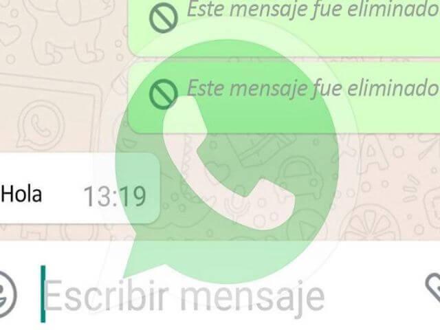 Mensajes eliminados de WhatsApp con esta app