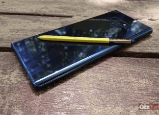 Note 9 con S Pen amarillo