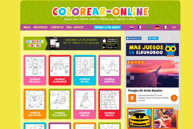 colorear online para colorear e imprimir dibujos