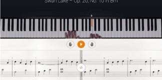 imagen de teclado y partituras