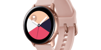 imagen del Galaxy Watch Active color oro rosa