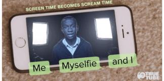 imagen de pantalla de móvil con la foto de un joven
