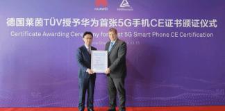 HUAWEI Mate X ha recibido el primer certificado 5G CE del mundo otorgado por TÜV Rheinland, líder mundial en servicios de inspección independientes