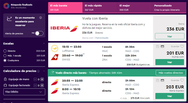 Comprar pasajes aéreos baratos por Internet