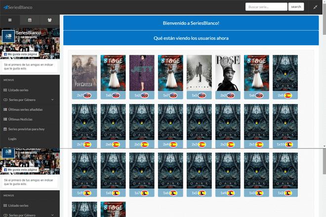 Series Blanco es otra de las alternativas a Plusdede, donde podrás poder ver series online de forma sencilla