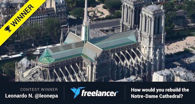 """Leonardo Nepa y su proyecto: """"¿Cómo reconstruirías la Catedral de Notre Dame?"""""""