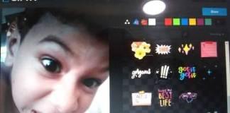 Foto captura de la pagina Giphy con la foto de un niño