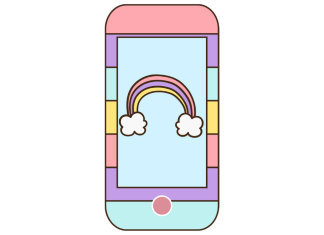 móvil con arcoiris