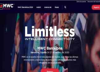 Captura de la página web oficial del MWC 2020