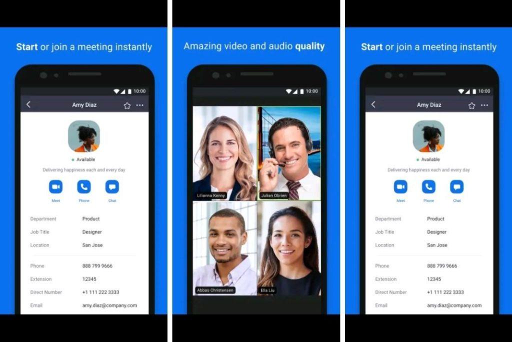 Captura de la aplicación móvil Zoom Cloud Meetings