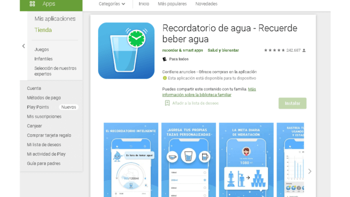 app para beber agua