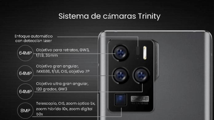 Un sistema de cámara ambicioso  trae este móvil de ZTE.