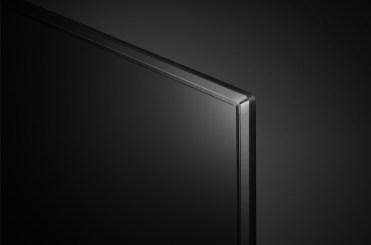Los marcos del televisor son estéticos, redondeados y en plata