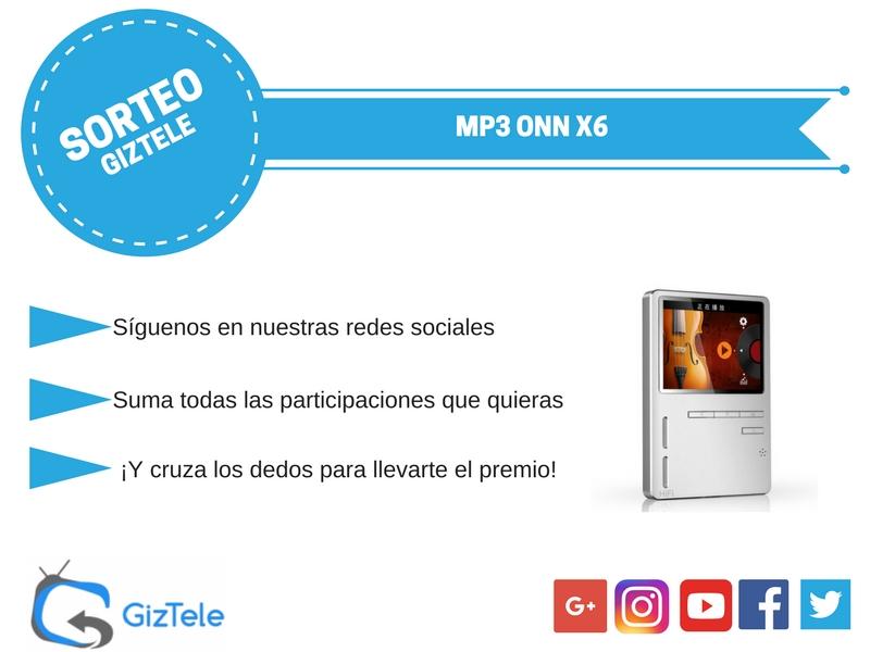 SORTEO: MP3 ONN X6, consíguelo gratis con Giztele [FINALIZADO]