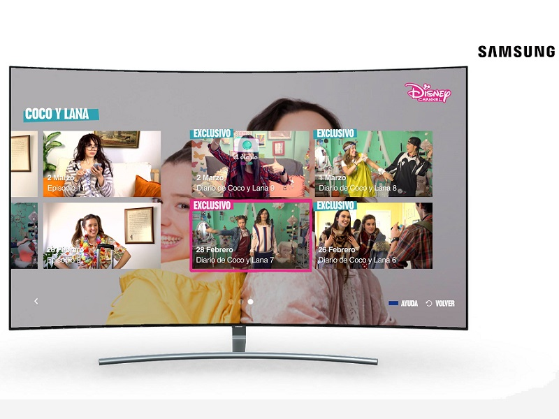 Disney Channel en exclusiva para las Smart TVs de Samsung