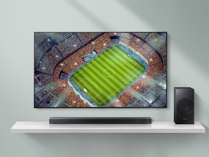 Samsung HW-N550, detalles de una barra de sonido surround