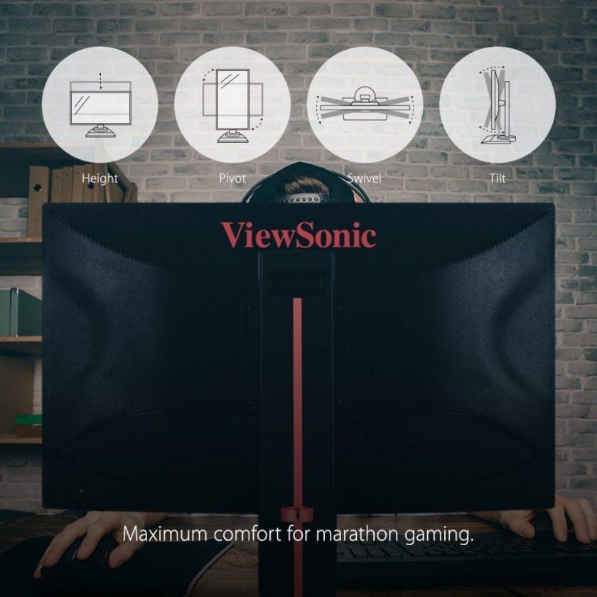 ViewSonic XG2530, ergonomía