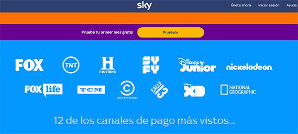 Sky incluye 12 canales de pago