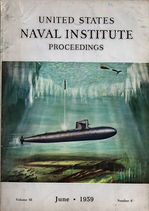 June 1959 Proceedings Magazine United States Naval