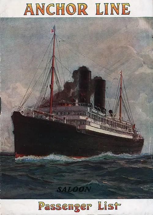 SS Columbia Passenger List 17 August 1912  GG Archives